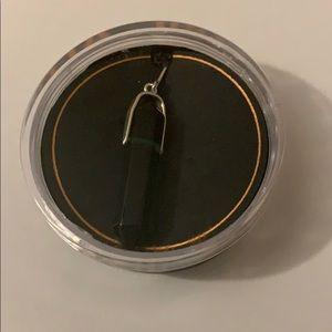 Alex and Ani Jewelry - NEW IN BOX Alex & Ani green glass pendant sterling